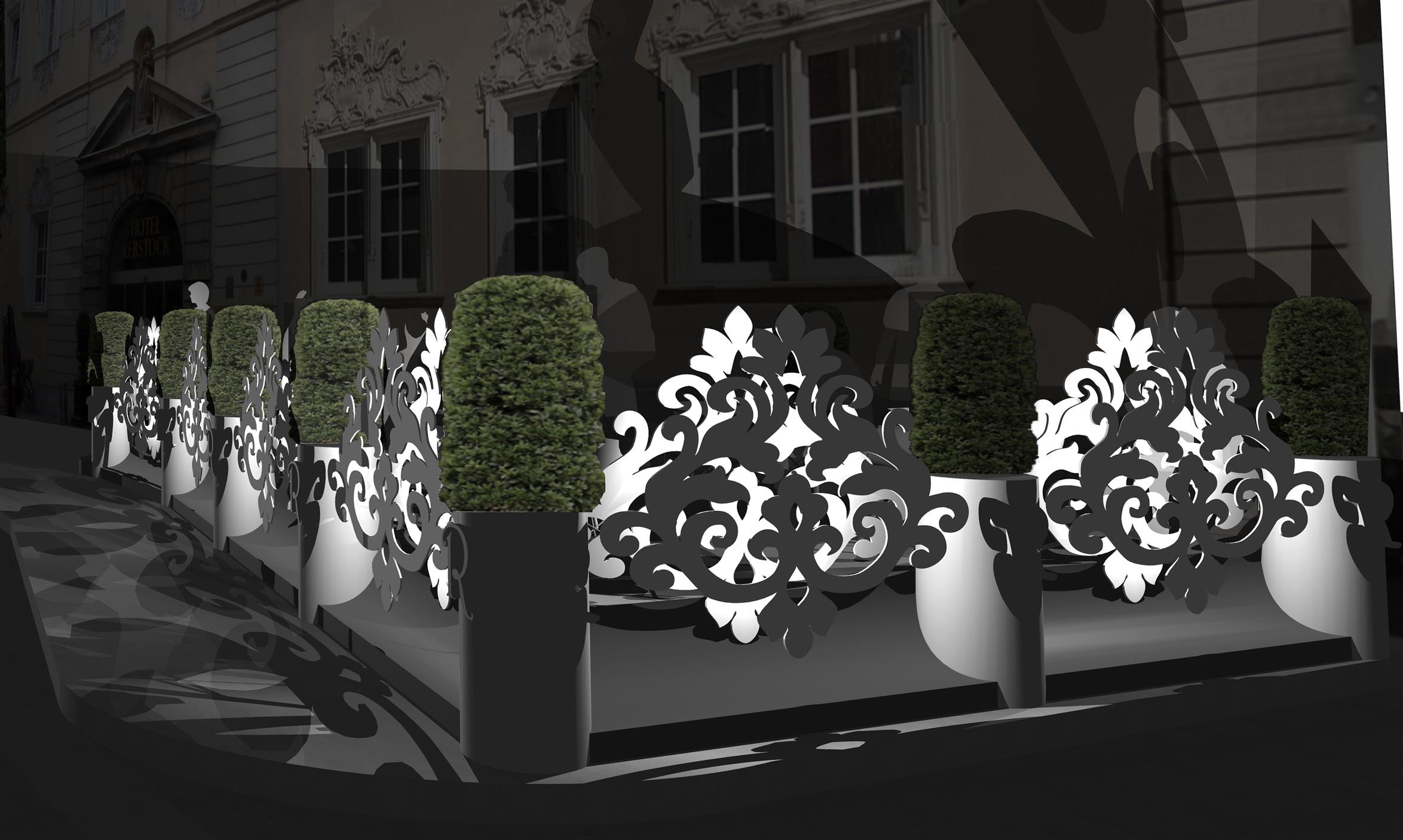 Andreas Bruederle Architekt Würzburg Hotel Terrasse